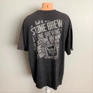 Stone Brewing Co. Black Grey Graphic Tee Shirt